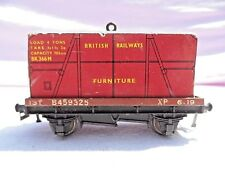 VINTAGE BOXED HORNBY DUBLO D1 LOW SIDED WAGON WITH FURNITURE CONTAINER No 32087