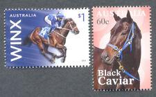 Australia -Horse Racing Champions 2 singles-Horses-Black Caviar & Winx-mnh