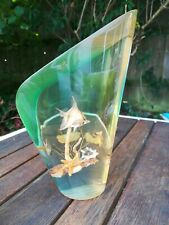 More details for large vintage mid century modern lucite seashore fish paperweight 19cm tall