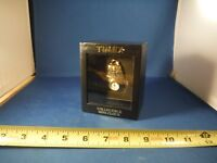 New Timex Gold Tone Back-Pack Miniature Clock NIB