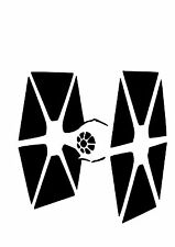 High Detail Star Wars Tie Fighter Airbrush Stencil - Free UK Postage