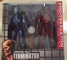 "NECA Exclusive Endoskeleton Assault vs the Terminator Action Figure 2 Pak 7"" NIB"