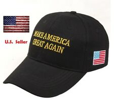 President Donald Trump Make America Great Again Hat US Republican Cap Black Gold
