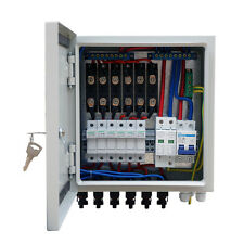 60A Solar Combiner Box 10A Circuit Breaker & Lightin Protection for Solar Panel