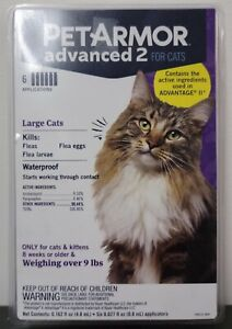 Pet Armor Advanced 2 for Large Cats 9 Lbs and up 6 Month Supply
