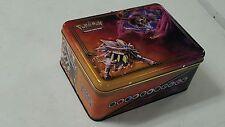 Pokemon 2017 Collector's Chest Empty Tin School Lunch Box -Lunala Solgaleo-Promo