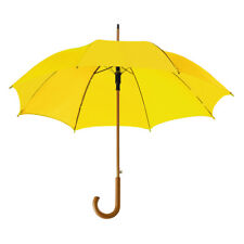 "40"" Classic Umbrella - Wooden Crook Handle Automatic Stick Brolly Walking Bride"