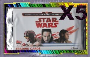 Pack 5 Boosters sous blister - STAR WARS - Edition Disney - Topps
