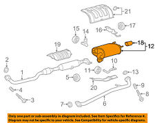 TOYOTA OEM 12-17 Camry 2.5L-L4-Muffler 174300V041