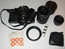 35mm camera and lenses vivitar 220/sl + case