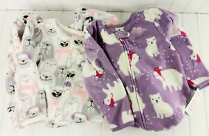 Girls 2T Carters Just One You Footed Pajamas PJ Fleece Zip Up Toddler NWT