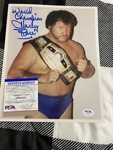 Harley Race Signed 8 X 10 - PSA Certified- NWA WWE NXT AEW WCW