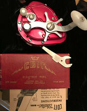 Vintage COIT Electric Fishing Reel MODEL E with Paperwork 1955