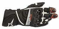 GUANTI ALPINESTARS GP PLUS R V2 GLOVES BLACK WHITE PELLE CERTIFICATO CE LIVELLO1