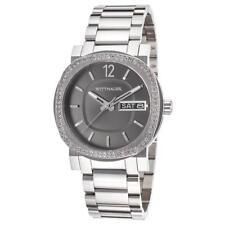 Wittnauer Men's Quartz Crystal Accents Silver-Tone Bracelet 42mm Watch WN3002
