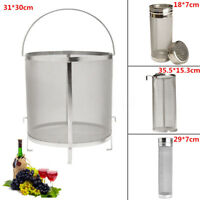 Homebrew Beer Wine Brewing Mesh Grain Basket Dry Hop Hopper Filter Strainer Kit