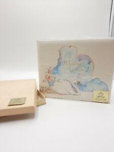 Vintage 1960s Hallmark Wedding Guest Book Signature Book Swan Complete W Box HTF