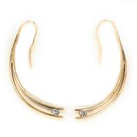 14K Yellow Gold 0.20ctw Round Brilliant Cut Diamond Drop Earrings