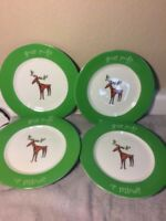 """(4)  GIBSON SALAD PLATES  MAX & LUCY--  """"YOUR ROOF? OR MINE?""""----FREE SHIP--VGC"""