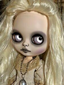 Ooak Custom Blythe Doll Gothic Ghost Halloween Annabel