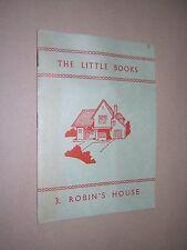 das kleine buch. no.3 robins haus umgekippt. 1963. kinder lesen lernen buch