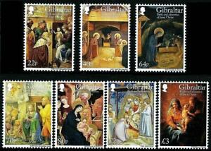 GIBRALTAR 2018 CHRISTMAS SC#1691-97 MNH CV$20.00 RELIGIOUS PAINTINGS, COWS