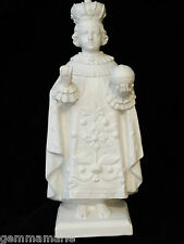 Catholic Vintage Holy Plaster Altar Shrine Statue Holy Infant Jesus of Prague