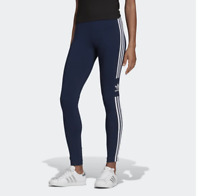 Adidas Originals Women's Trefoil Tights NEW AUTHENTIC Navy ED7489 SZ:XS