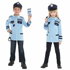 Child Police Officer Costume Boys Girls Cop Role Play Fancy Dress Outfit Small (age 4 - 6 Years)