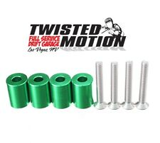"TWISTED MOTION HOOD SPACERS SR20DET S13 S14 240SX ""GREEN"""