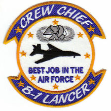 B-1 LANCER CREW CHIEF PATCH, BEST JOB IN THE AIR FORCE            Y