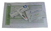 Digital Basal Thermometer Fahrenheit 40 Ovulation 10 Pregnancy Test Kits + Chart