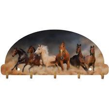 Horses Key Rack Wild Western Mustang Wall Art USA
