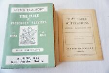 More details for 1964 ulster transport road & railway passenger services public timetable
