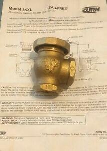 """Zurn/Wilkins 35XL Pressure Atmospheric Vacuum Breaker 1"""""""