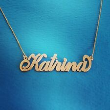 Personalized Necklace / Order any name! / Solid 14k chain and nameplate / Name