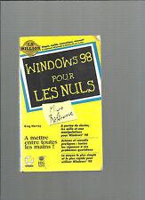 Livre Windows 98 pour les nuls Greg Harvey REF E35