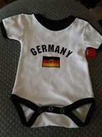 New baby romper bodysuit jumpsuit outfit. 6 month. Germany logo.