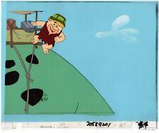 Flintstones Barney Rubble Animation Cel Hanna Barbera 1994 Christmas Carol dn