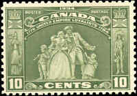 1934 Mint Canada F+ Scott #209 10c Loyalists Issue Stamp Never Hinged