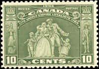 1934 Mint NH Canada F+ Scott #209 10c Loyalists Issue Stamp
