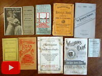 Advertising19th century ephemera lot x 10 brochures pamphlets medicine farms