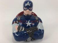 "Captain AmericaKids Ceramic Coin Piggy Bank  ~ Home Decor ~ 7"" Tall ~ 6"" Wide"