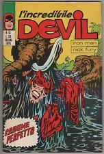 DEVIL corno  # 63 CRIMINE PERFETTO iron man nick fury shield capitan america F4