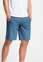 New HURLEY  32  HYBRID Harrison board shorts swim walk blue turquoise stripe
