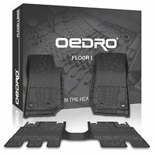 oEdRo for 2014-2017 Jeep Wrangler JK 4 Door TPE Unlimited Slush Floor Mats