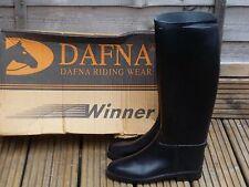 Dafna Winner Ladies Womens Boys Smart Long Black Riding Boots UK 5 New With Box