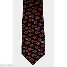 METROPOLITAN MUSEUM OF ART Tie Clip Silk Print Necktie Navy Masterworks Ltd Ed