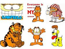 5Garfield 6 pack #2 T-shirt Iron on transfer Odie 8x10