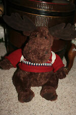 "19"" Gund American Eagle AE Backpacking Moose Sweater Plush Soft Toy Stuffed A6"